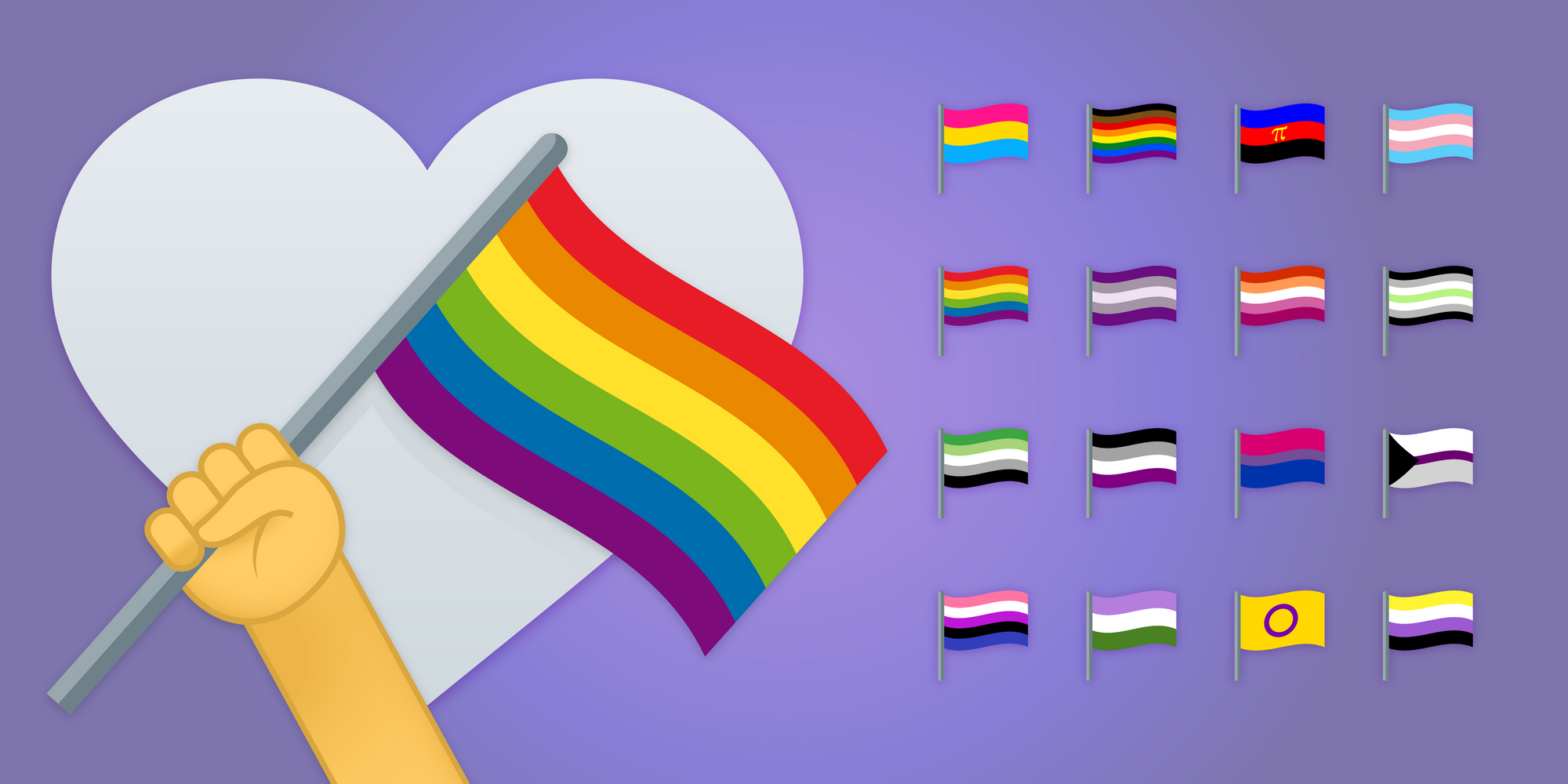 World's First LGBT+ Emoji Flags for #Pridemonth